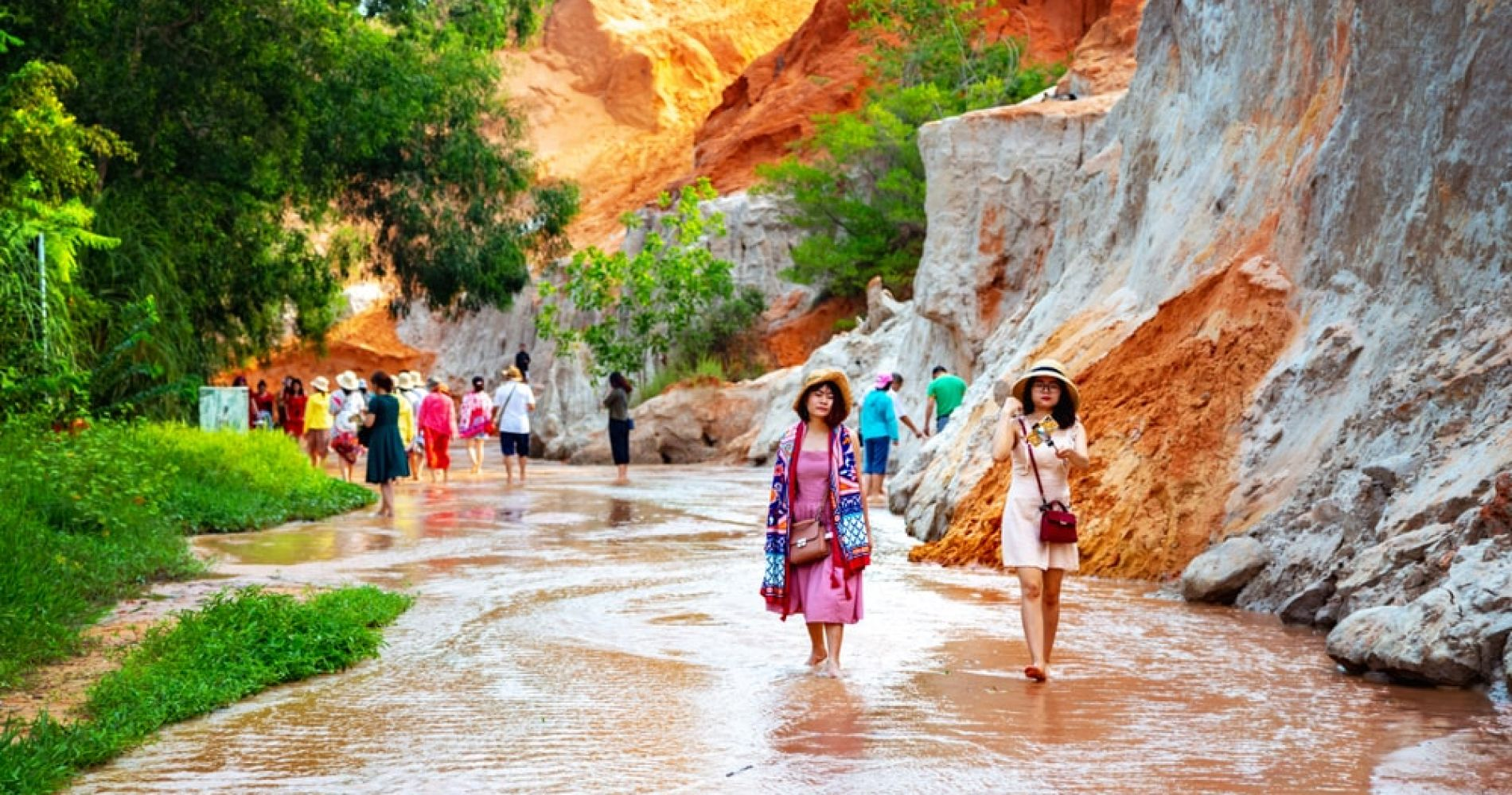 Explore a refreshing Fairy Stream Red Canyon in Muine, Vietnam