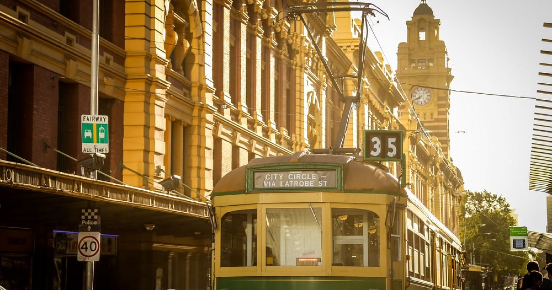 Hop on the free City Circle Tram in Melbourne
