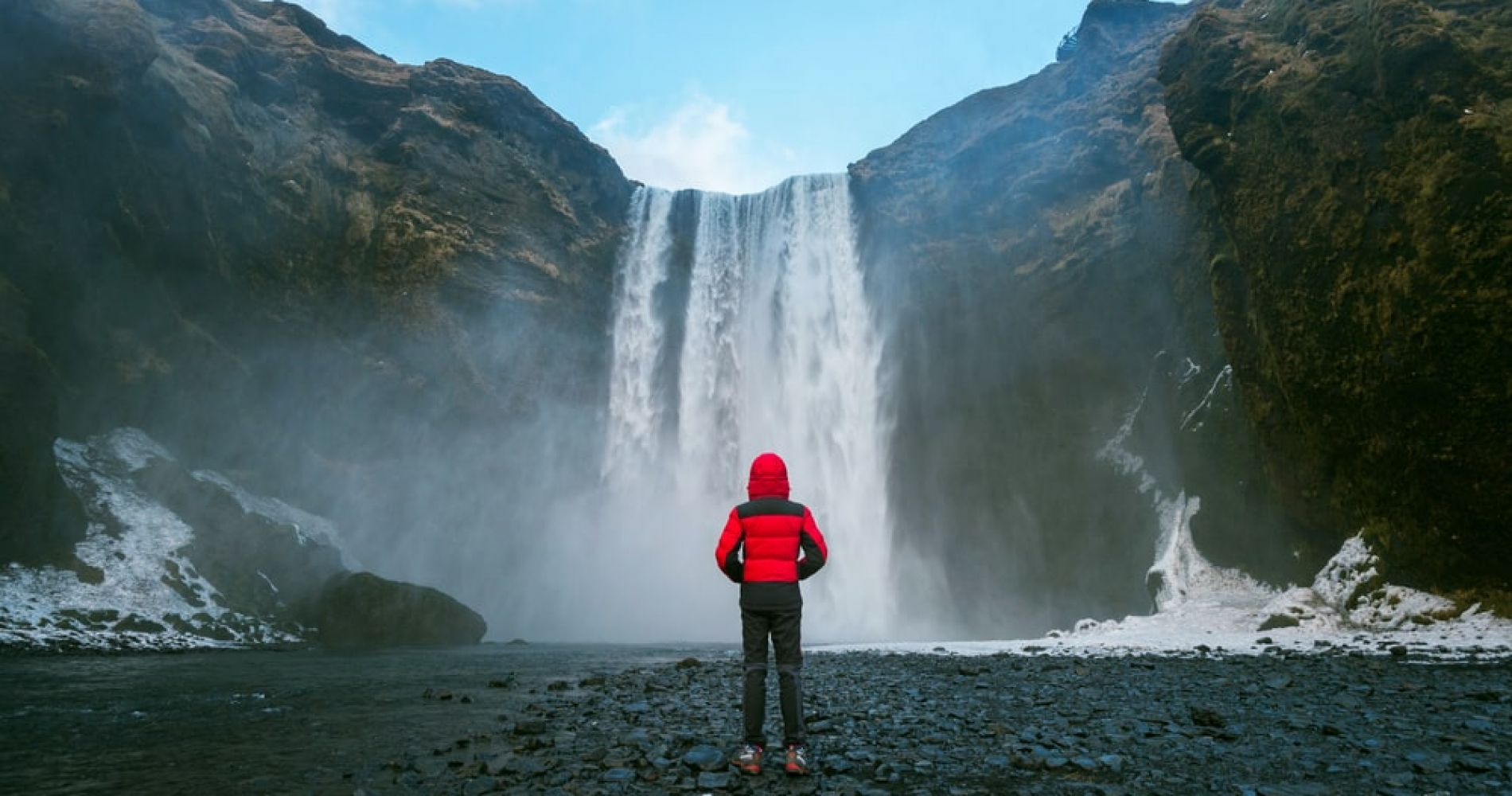 See the beautiful waterfalls in Iceland
