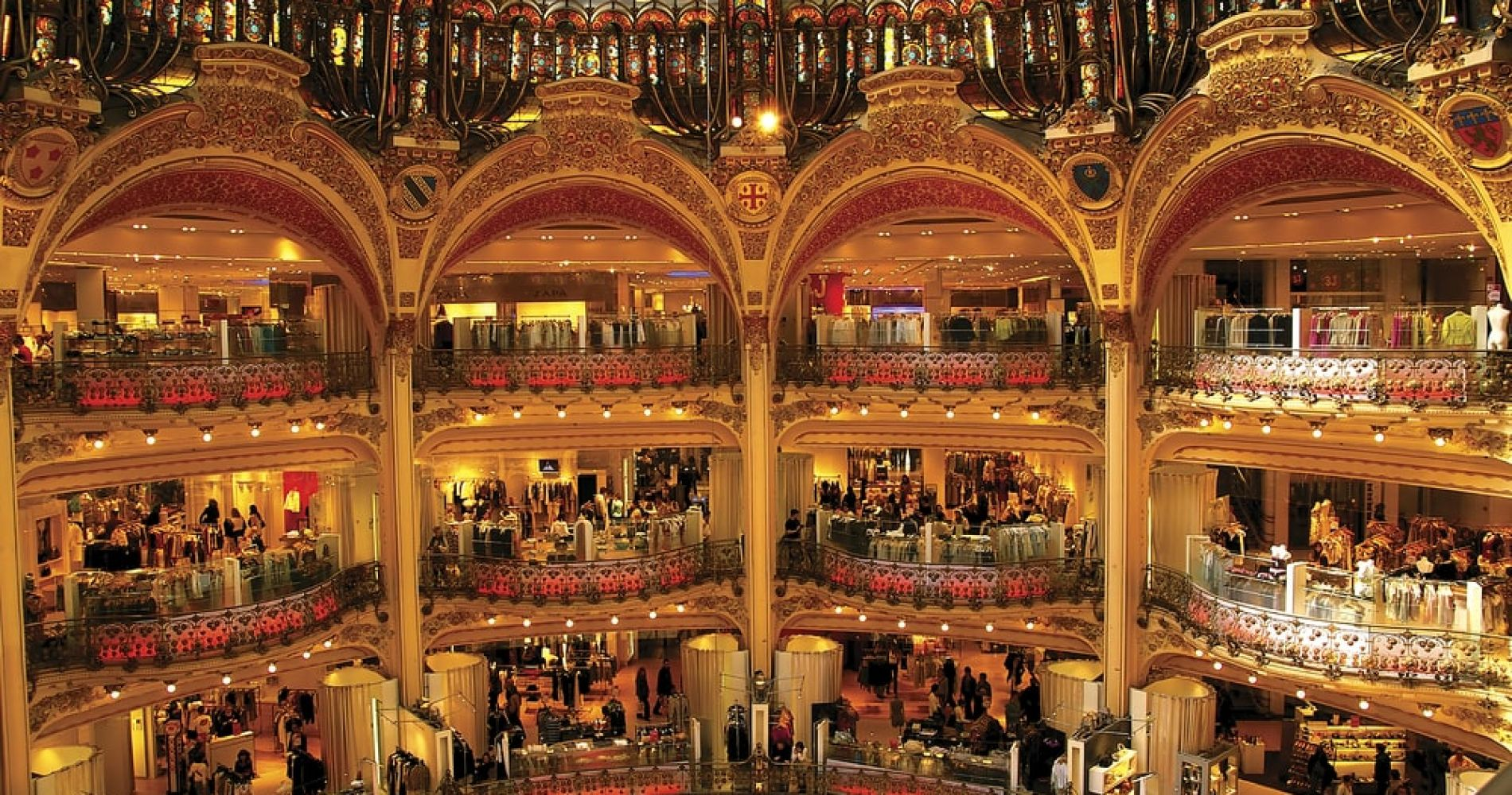 Go to the Galeries de Lafayette in Paris