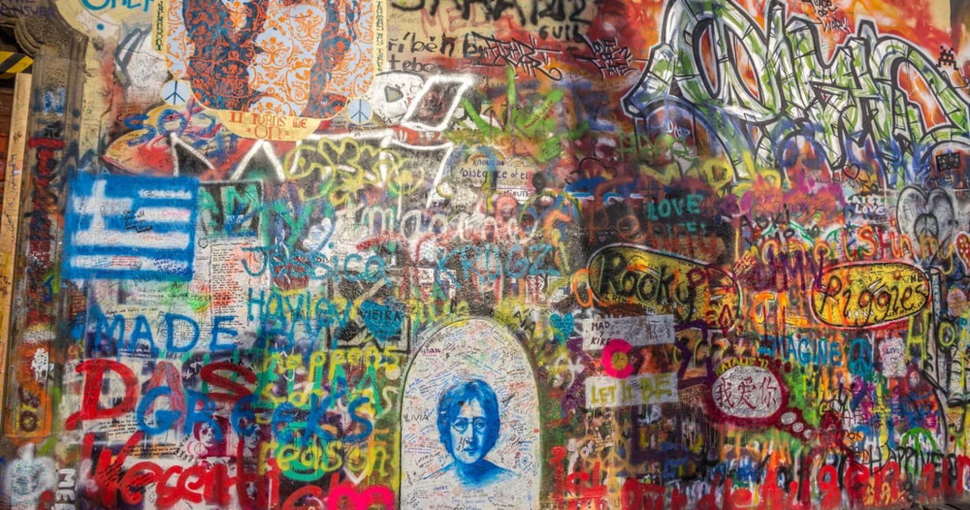 Visit the Lennon Wall in Prague