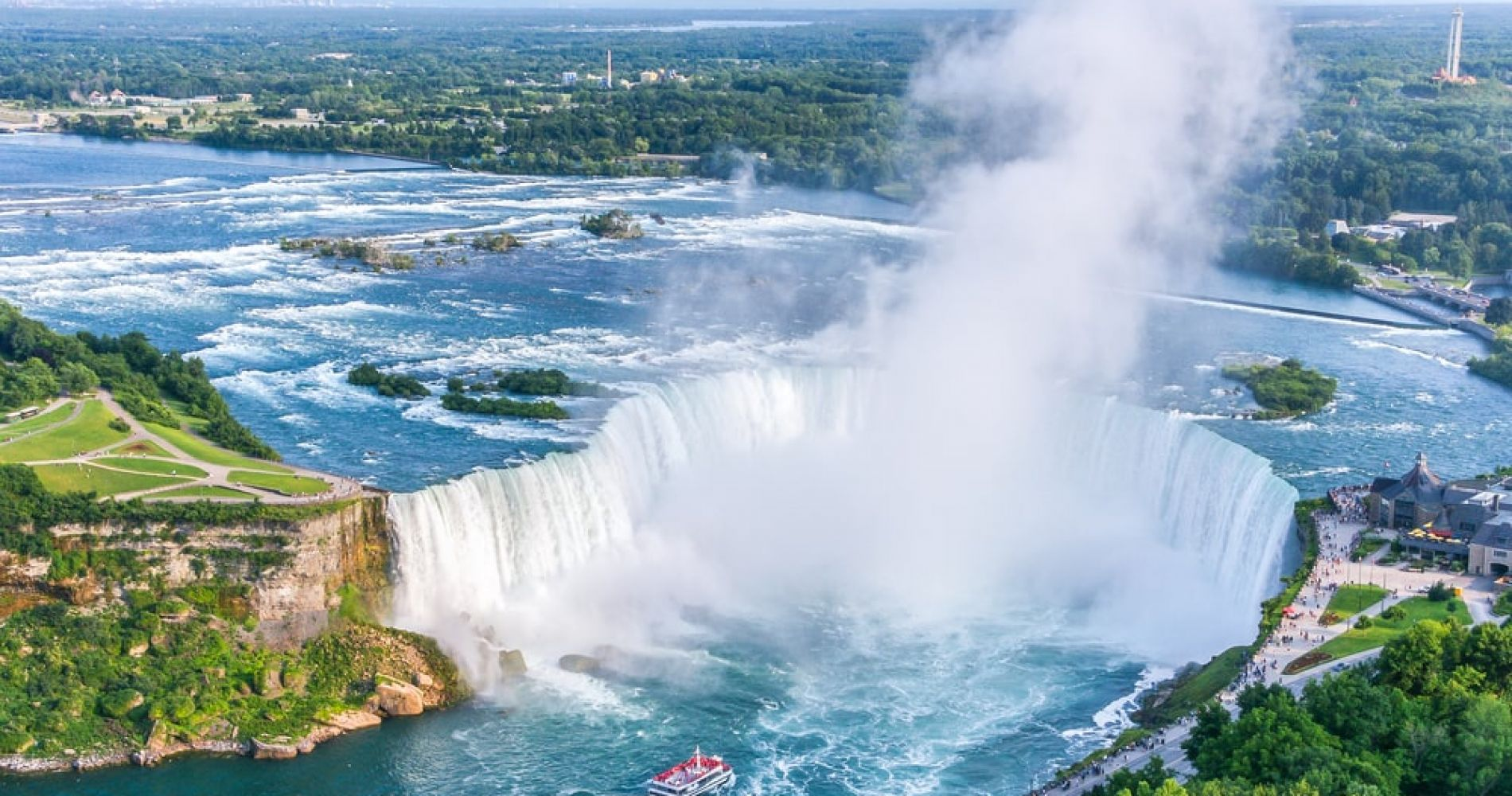 Visit Niagara Falls from either Canada or USA