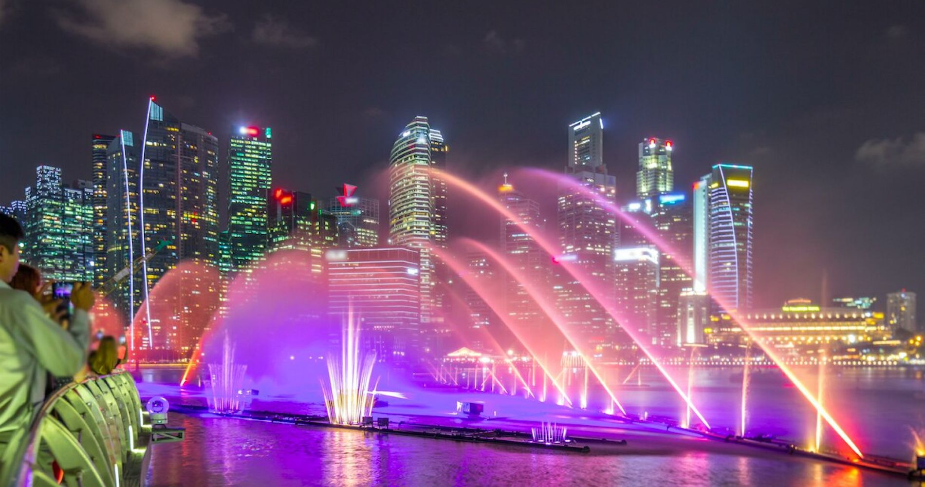 Light & Water Show at Event Plaza, Singapore
