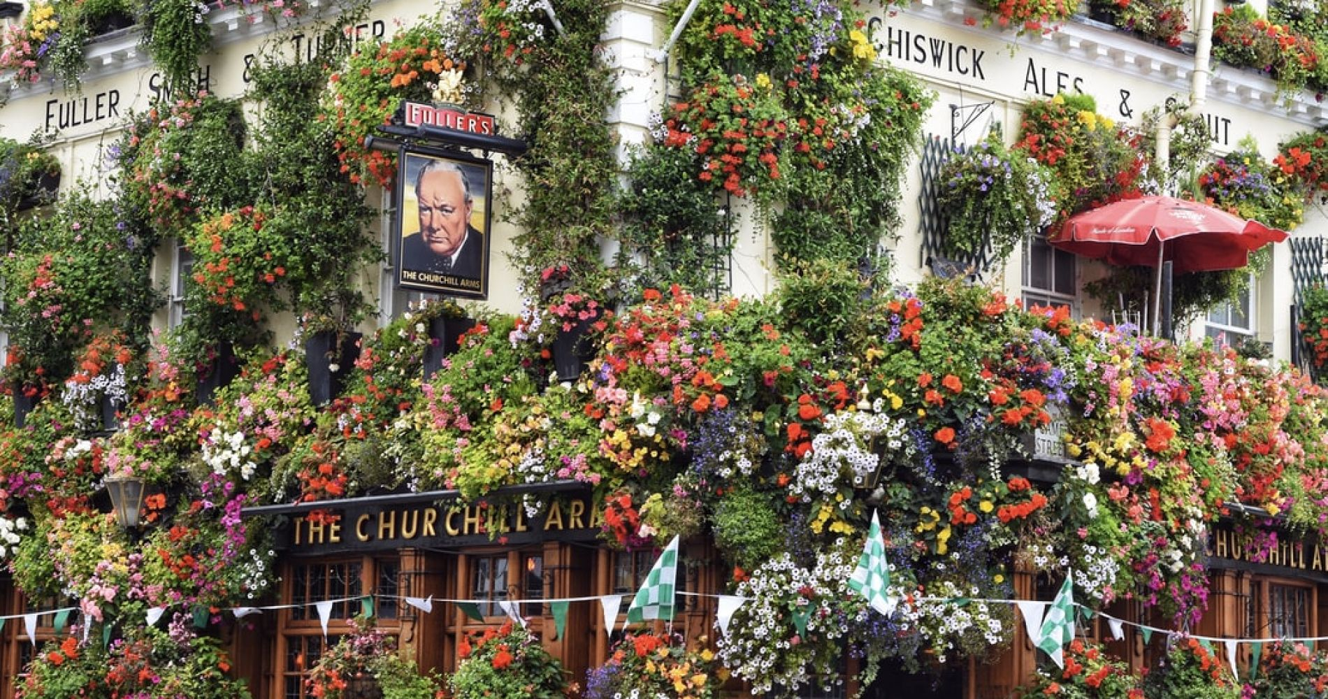 Get a Picture of the Churchill Arms Pub in London's Notting Hill