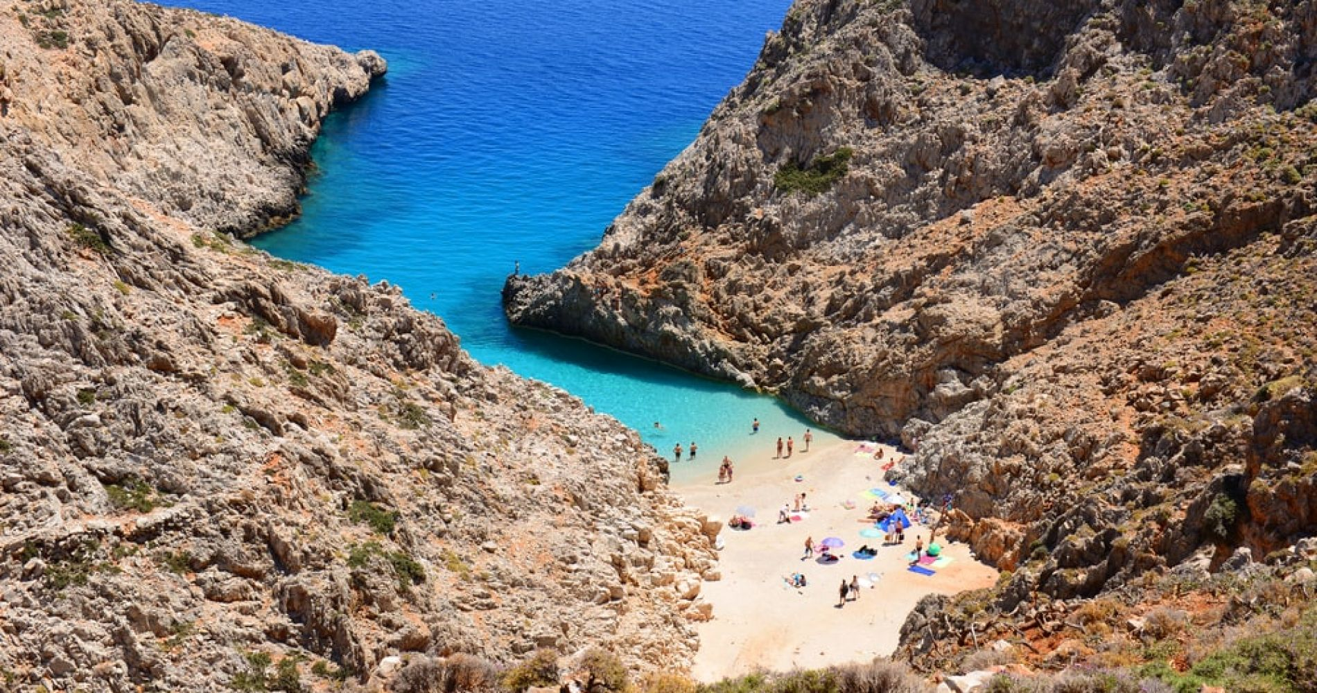 Swim in Seitan Limania on the island of Crete