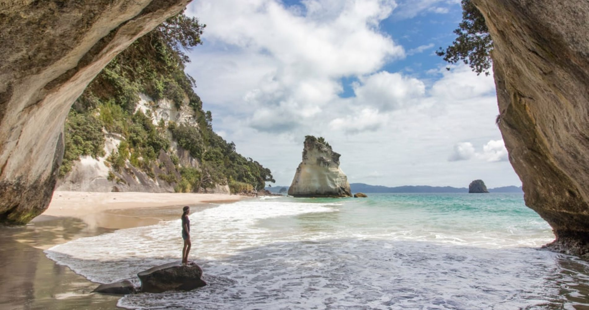Explore the beautiful Cathedral Cove