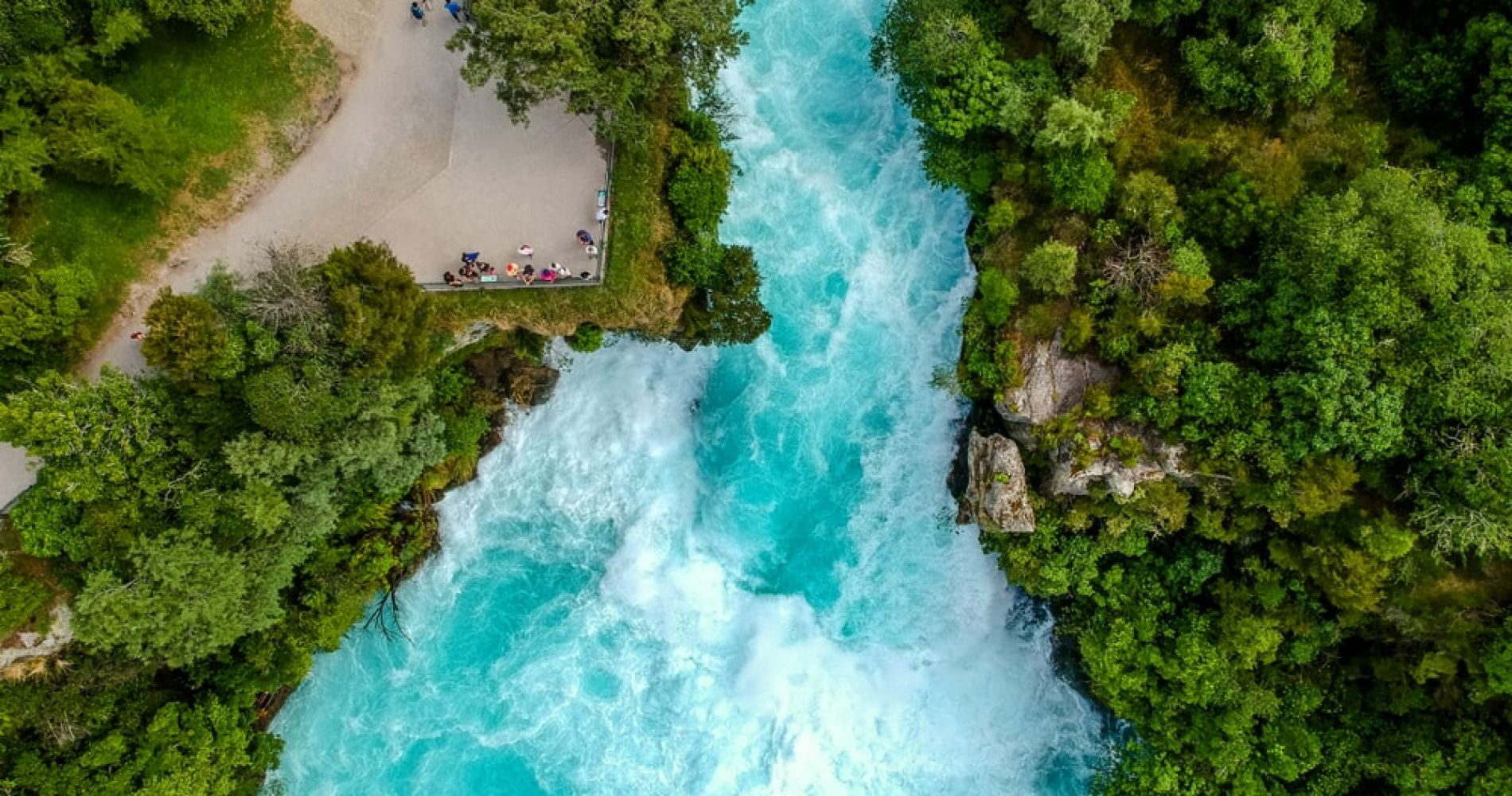 Take a picture of Huka Falls
