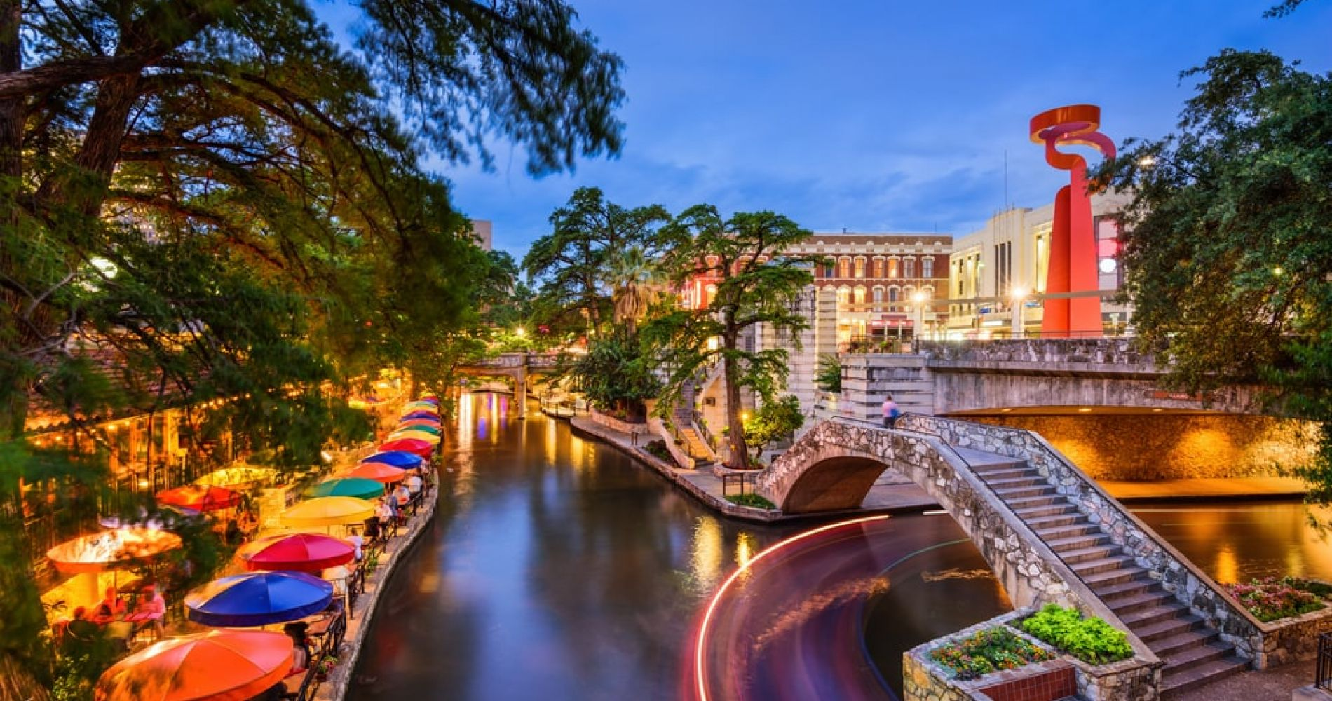Go on a Famous San Antonio River Walk while in Texas