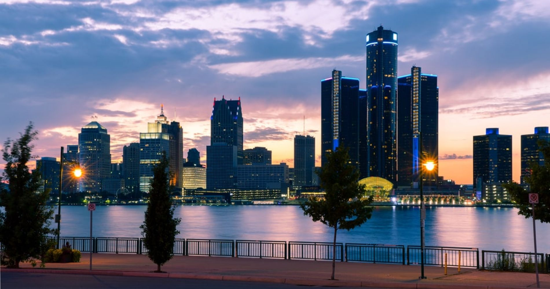 Walk the East River Walk in Detroit with a View of Canada just Across the River