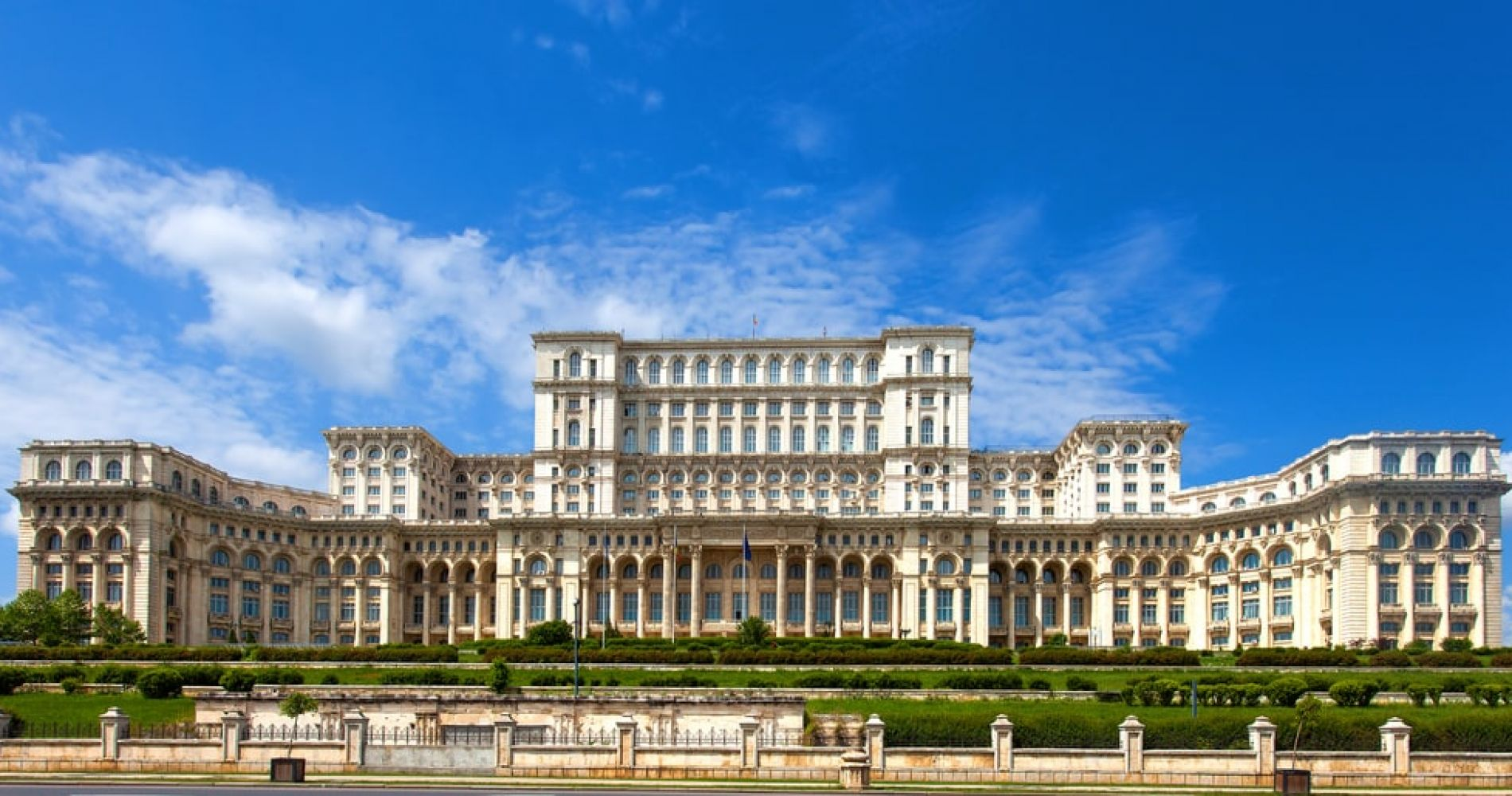 See the Palace of the Parliament in Bucharest
