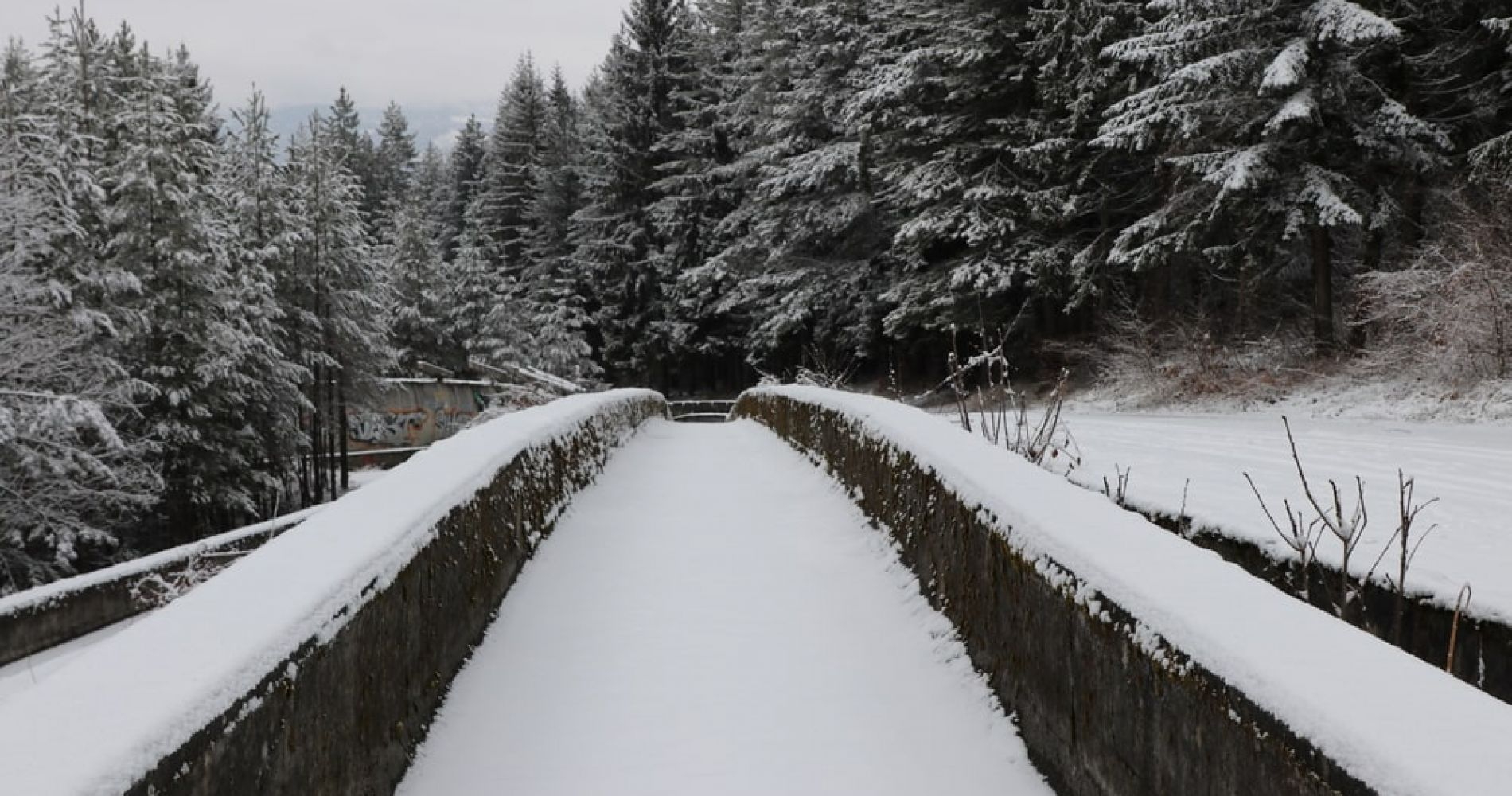 Walk Sarajevo Olympic Bobsleigh and Luge Track in Bosnia