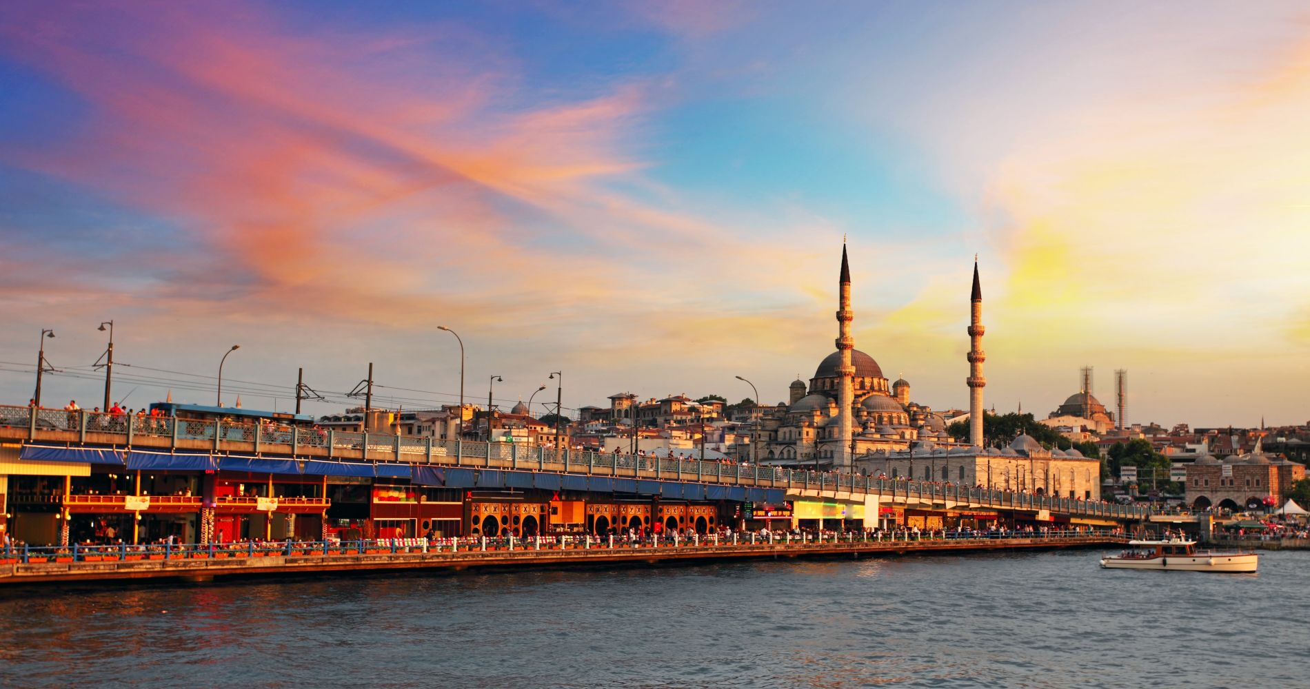 Watch the Sunset on the Galata Bridge in Istanbul