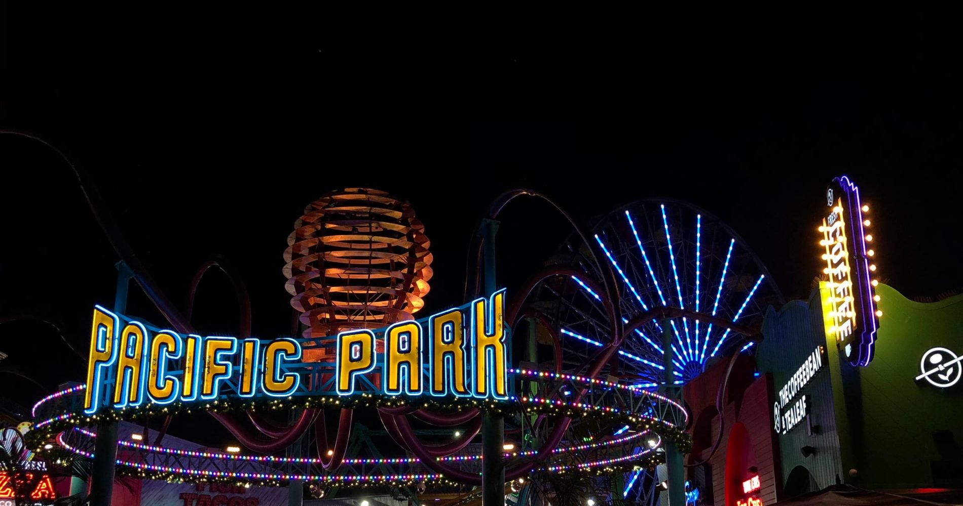 LA Theme Park day with Pacific Park tickets