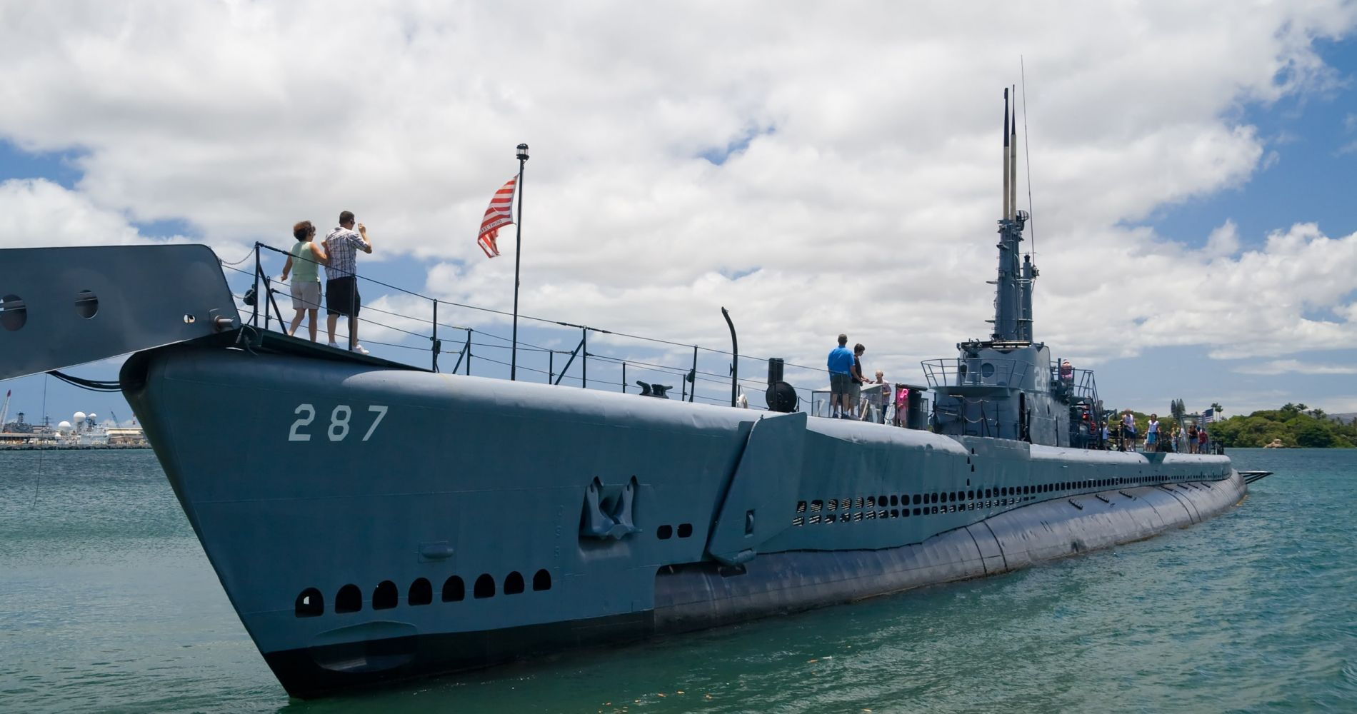 USS Bowfin Submarine with Oahu pass