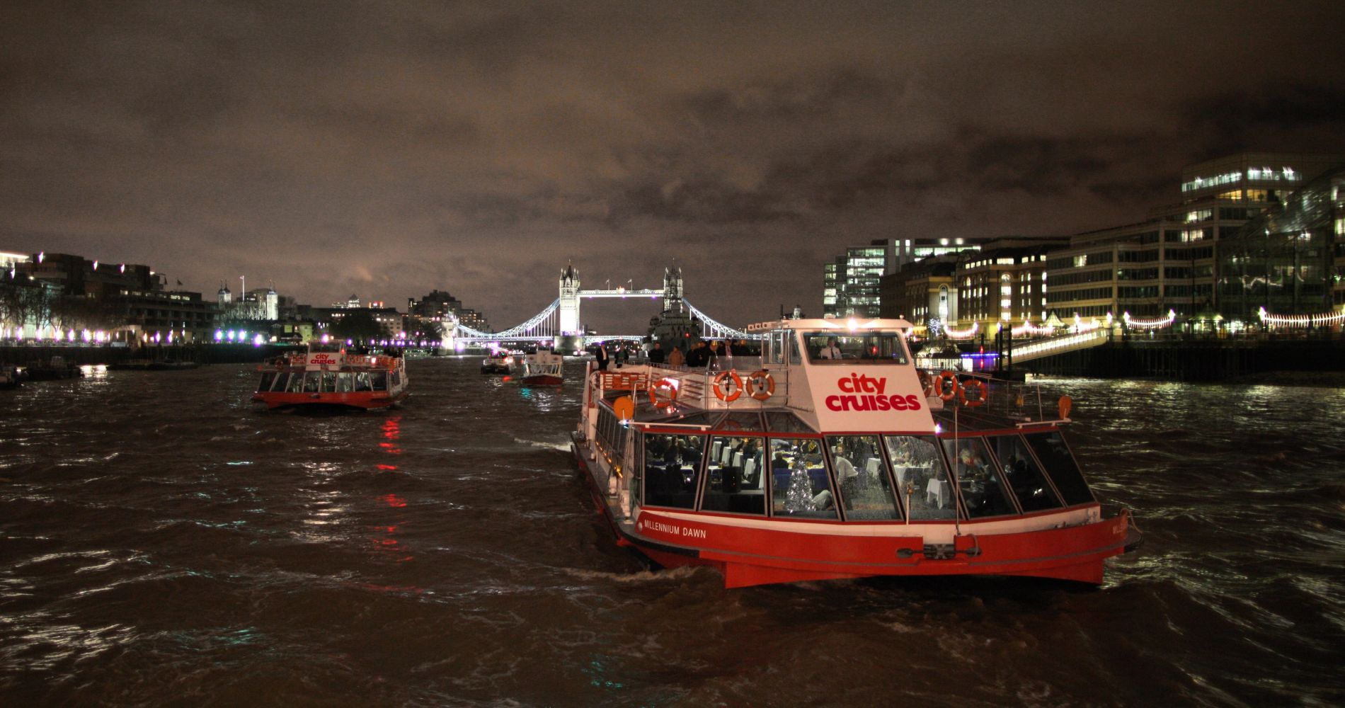 London's Showboat Dinner Cruise for Two