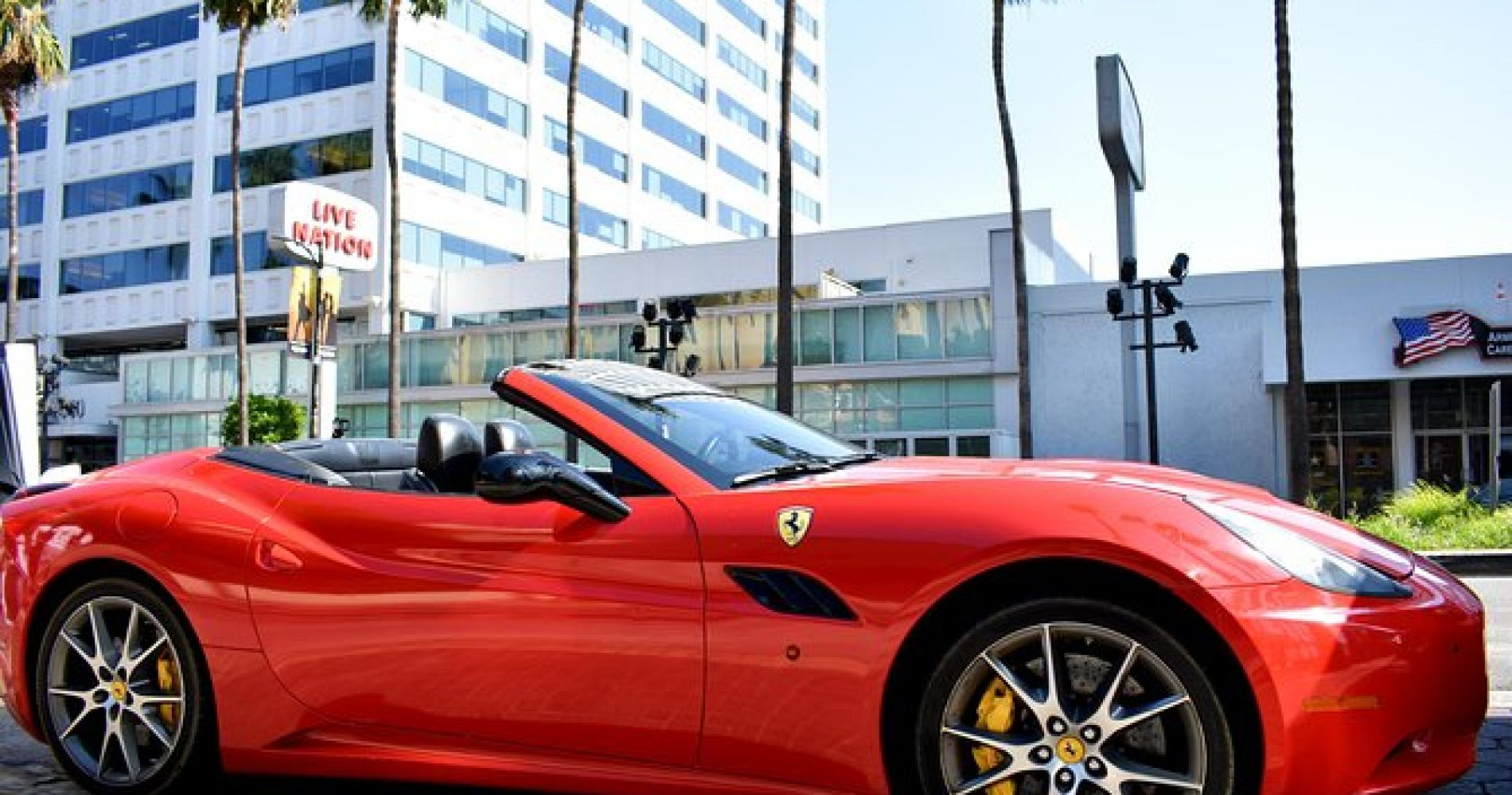 20 Min Ferrari Drive from Hollywood Blvd to Sunset Blvd