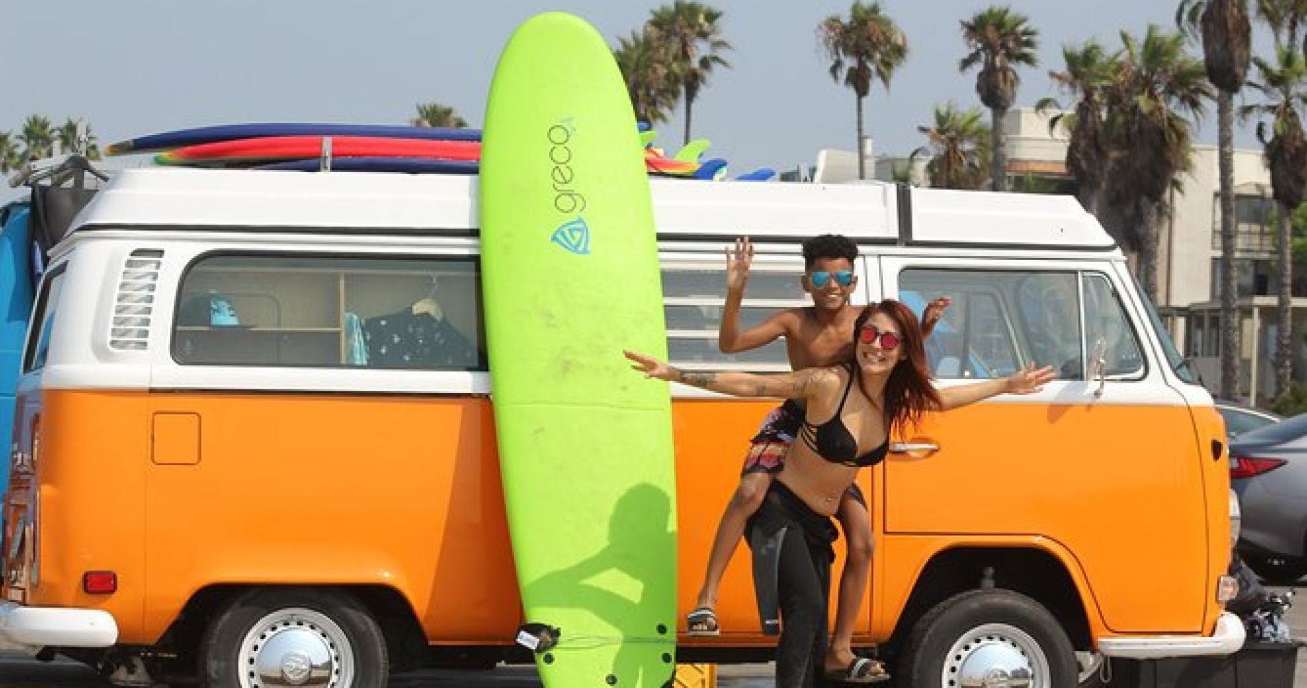 Shared 2 Hours Group Surf Lesson at Venice Beach