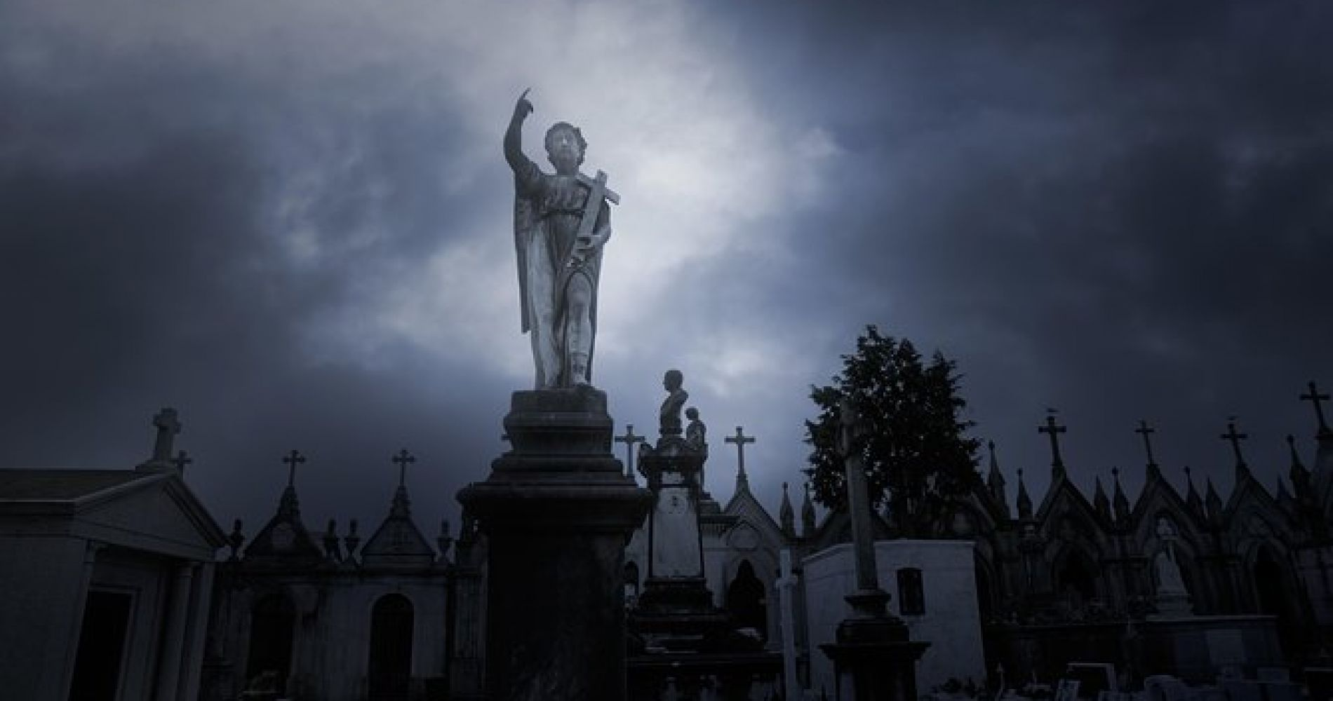 Cemetery and Ghost BYOB Bus Tour in New Orleans
